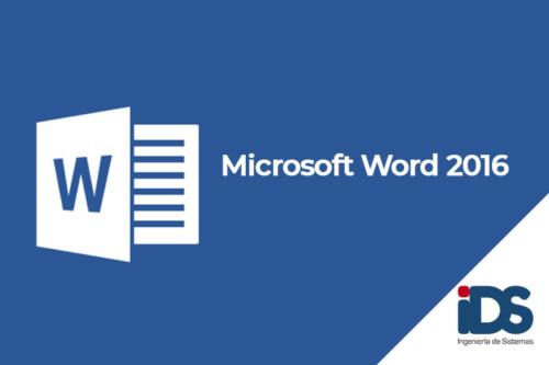Curso Microsoft Word 2016 - Ingeniería de Sistemas