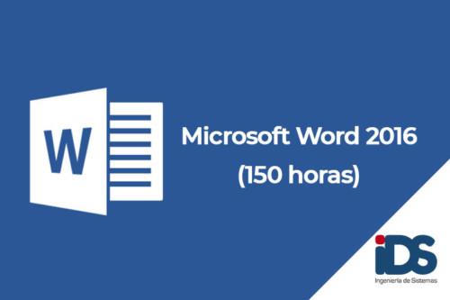 Curso de Microsoft Word 2016 de 150 horas - Ingeniería de Sistemas